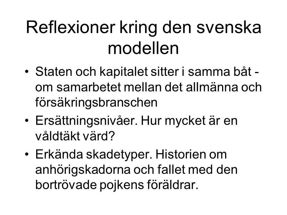 Reflexioner kring den svenska modellen