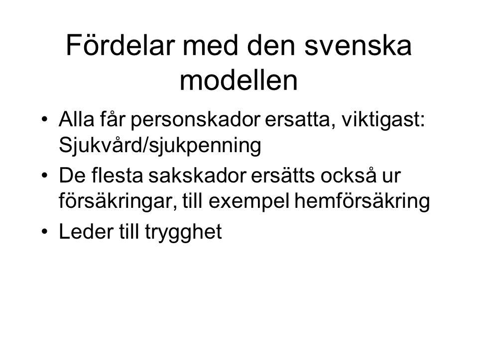 Fördelar med den svenska modellen
