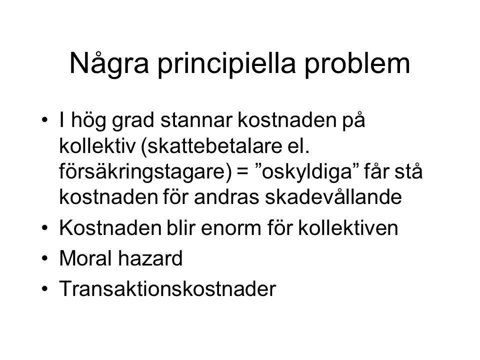 Några principiella problem