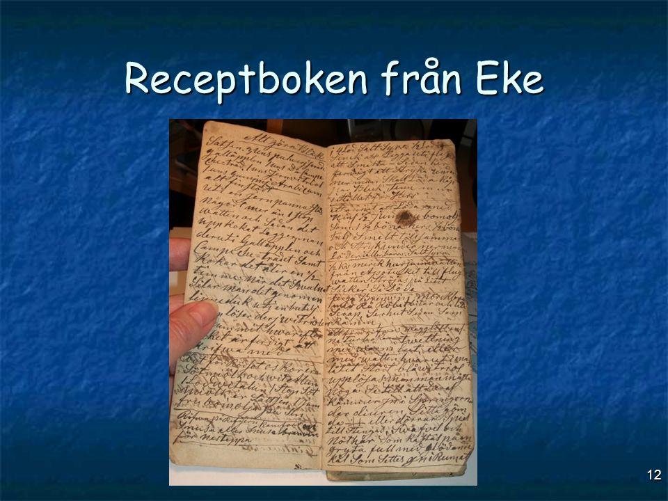 Receptboken från Eke