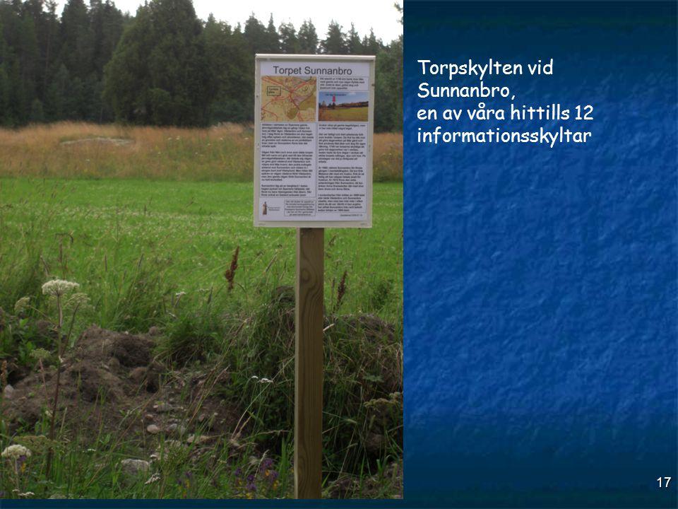 Torpskylten vid Sunnanbro, en av våra hittills 12 informationsskyltar