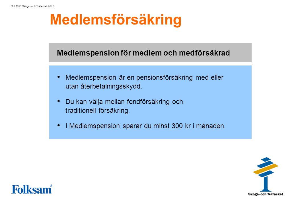 Medlemspension för medlem och medförsäkrad