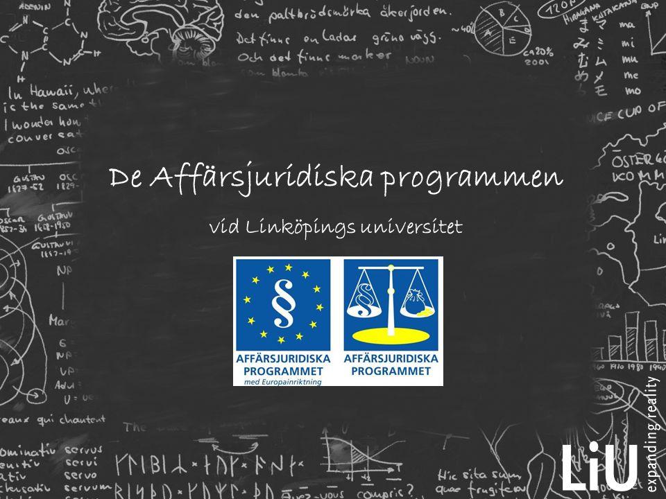 De Affärsjuridiska programmen vid Linköpings universitet