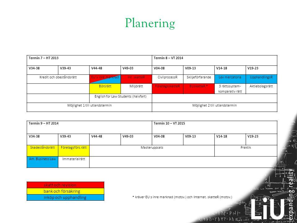 Planering skatt och revision bank och försäkring inköp och upphandling
