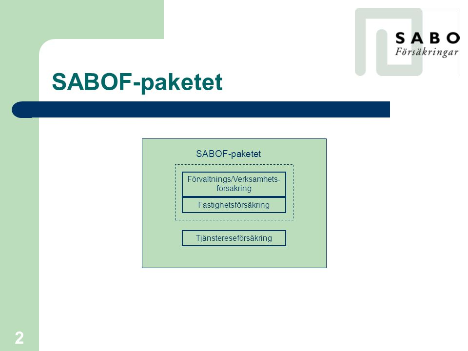 SABOF-paketet SABOF-paketet Förvaltnings/Verksamhets-försäkring