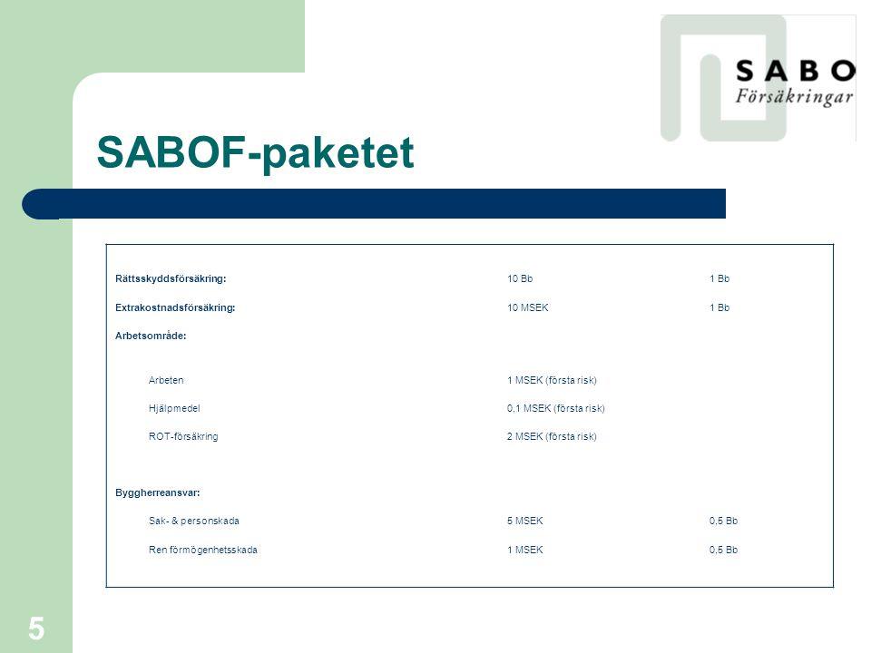 SABOF-paketet Rättsskyddsförsäkring: 10 Bb 1 Bb