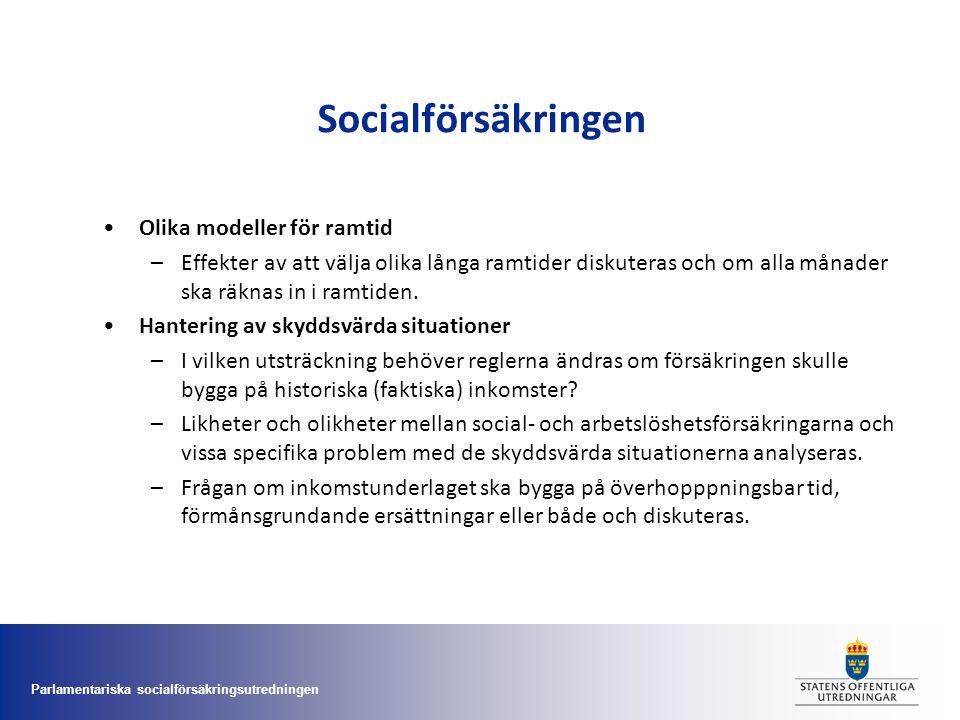 Socialförsäkringen Olika modeller för ramtid