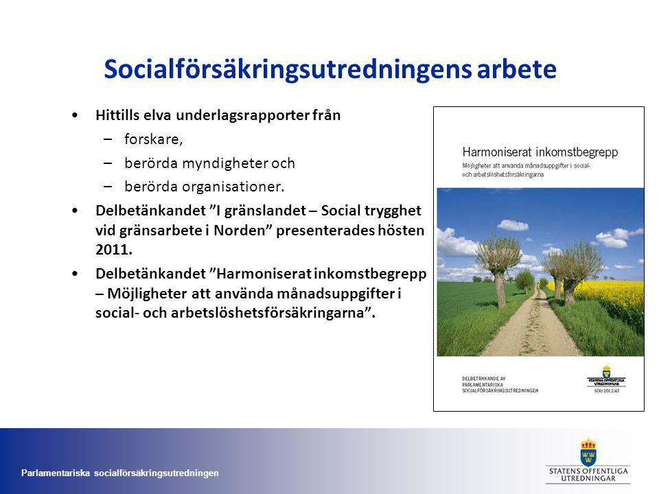 Socialförsäkringsutredningens arbete