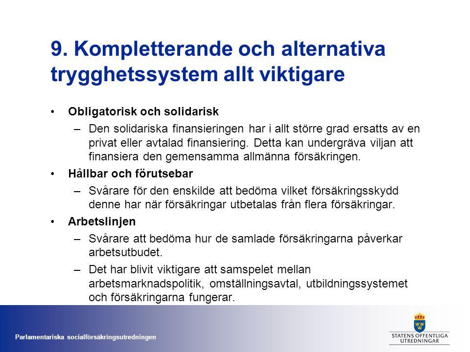 9. Kompletterande och alternativa trygghetssystem allt viktigare
