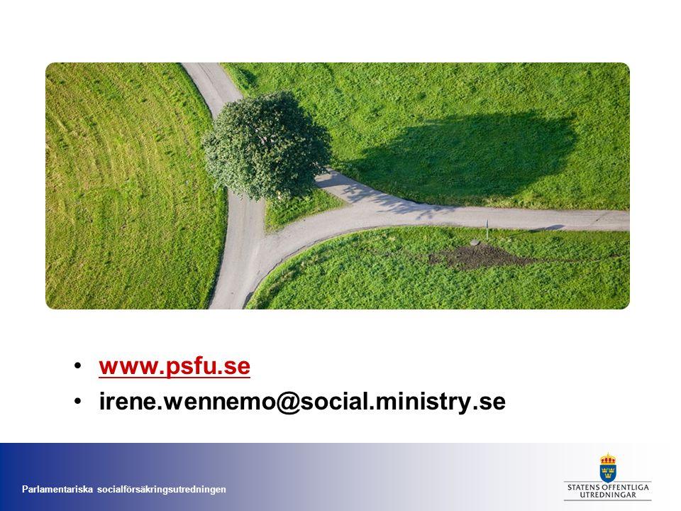 www.psfu.se irene.wennemo@social.ministry.se