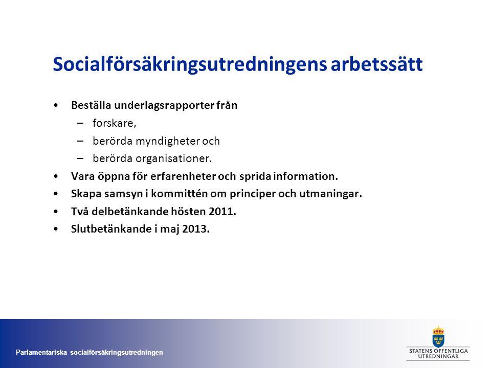 Socialförsäkringsutredningens arbetssätt