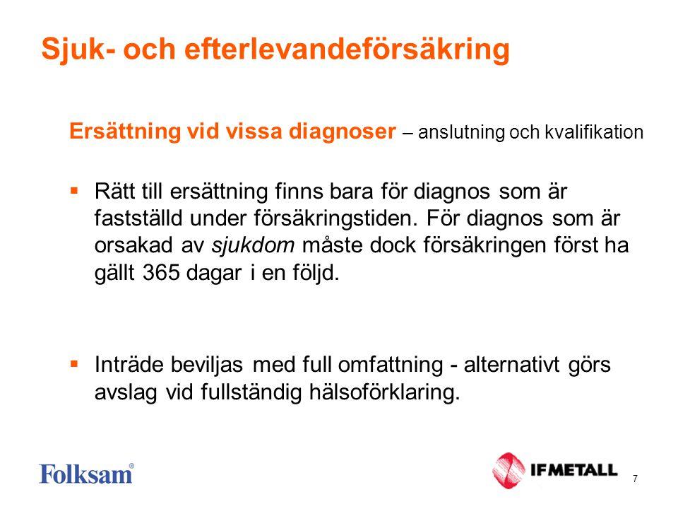 Sjuk- och efterlevandeförsäkring