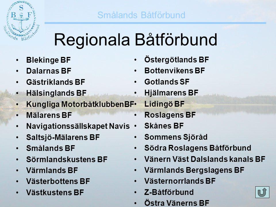 Regionala Båtförbund Blekinge BF Östergötlands BF Dalarnas BF