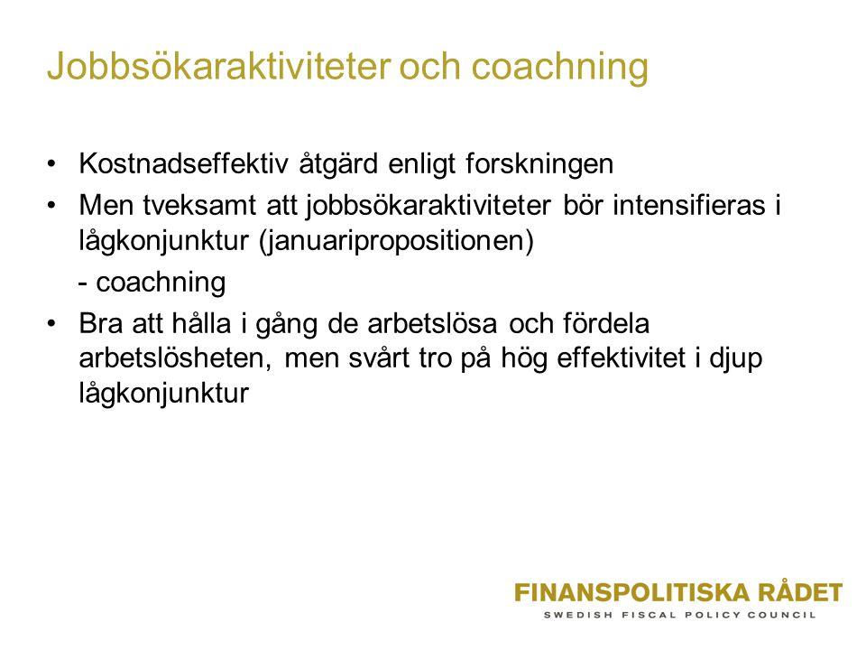 Jobbsökaraktiviteter och coachning