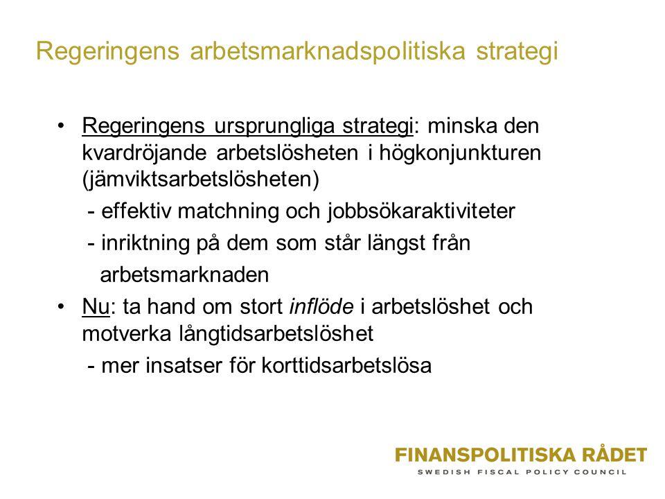 Regeringens arbetsmarknadspolitiska strategi