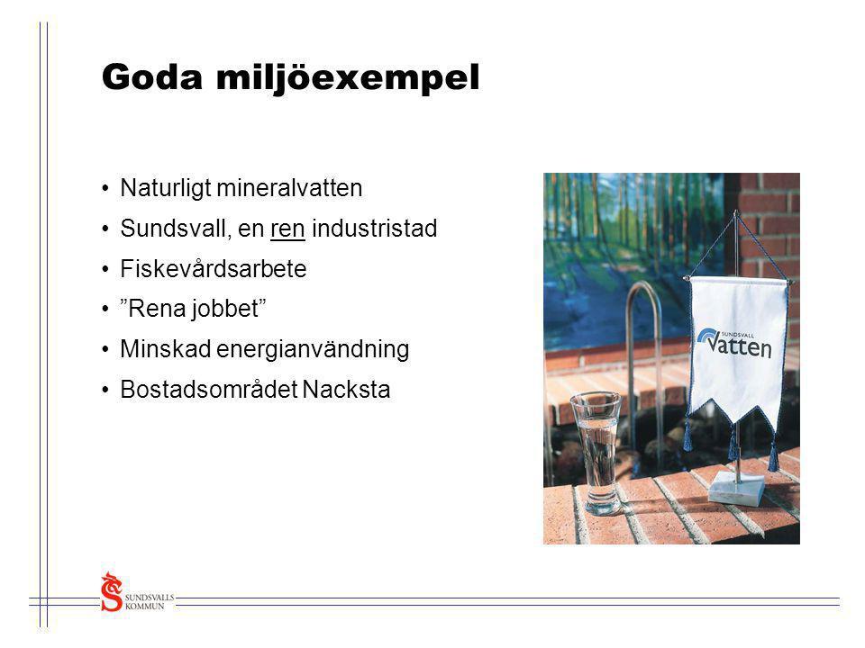 Goda miljöexempel Naturligt mineralvatten