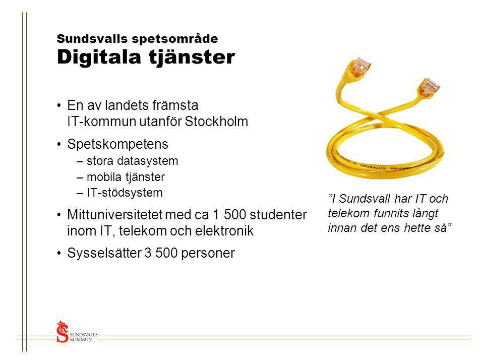 Sundsvalls spetsområde Digitala tjänster