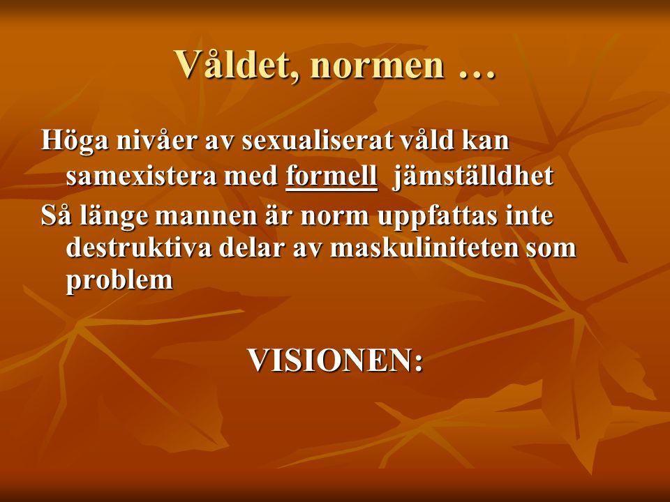 Våldet, normen … VISIONEN: