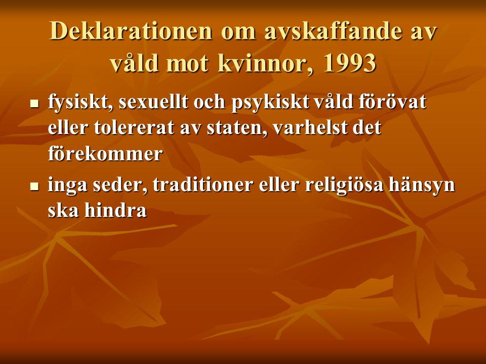 Deklarationen om avskaffande av våld mot kvinnor, 1993