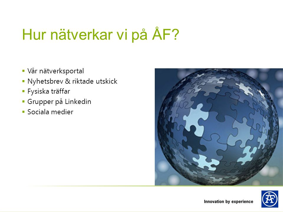 Hur nätverkar vi på ÅF Vår nätverksportal