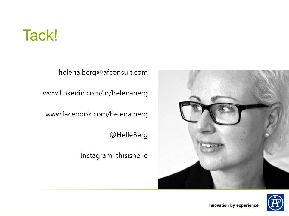 Tack! helena.berg@afconsult.com www.linkedin.com/in/helenaberg