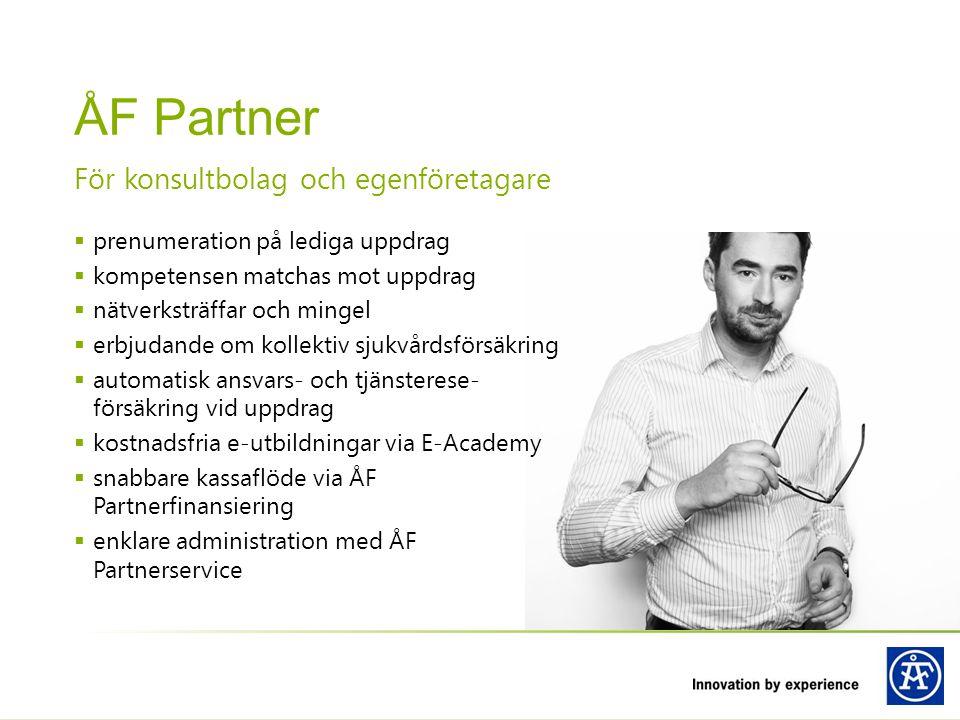 ÅF Partner För konsultbolag och egenföretagare