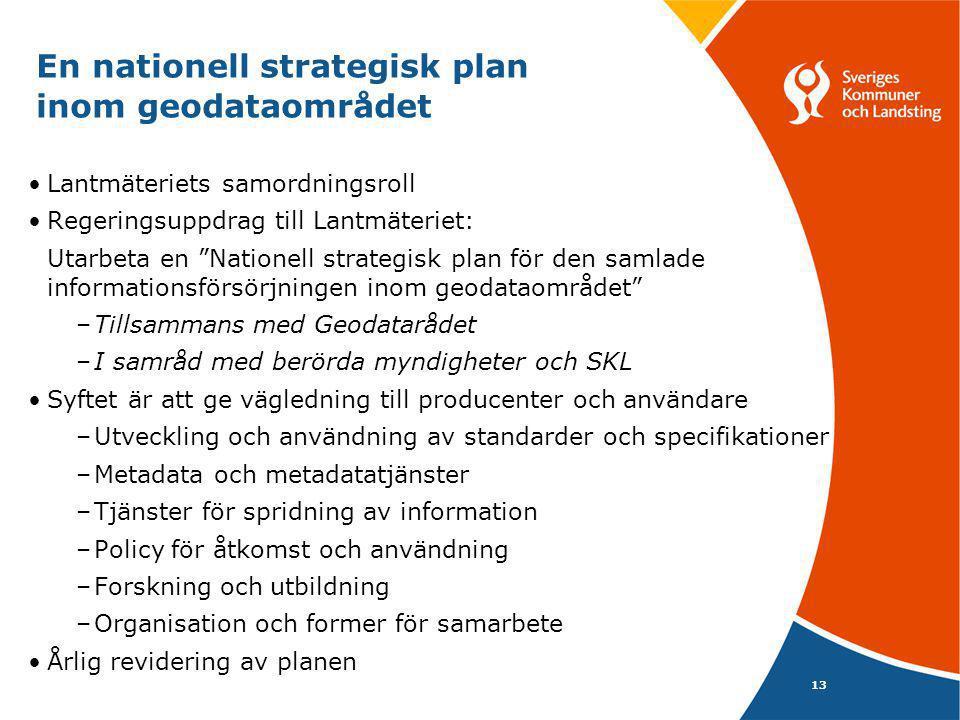En nationell strategisk plan inom geodataområdet
