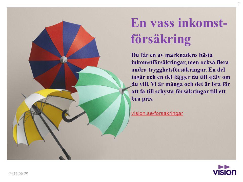 En vass inkomst- försäkring