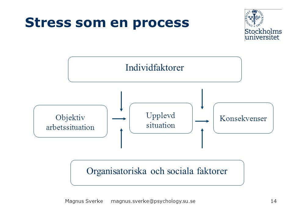 Organisatoriska och sociala faktorer