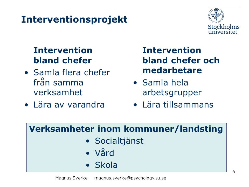 Interventionsprojekt