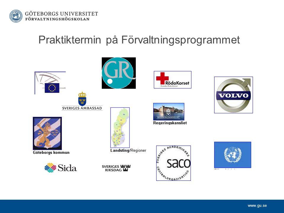 Praktiktermin på Förvaltningsprogrammet