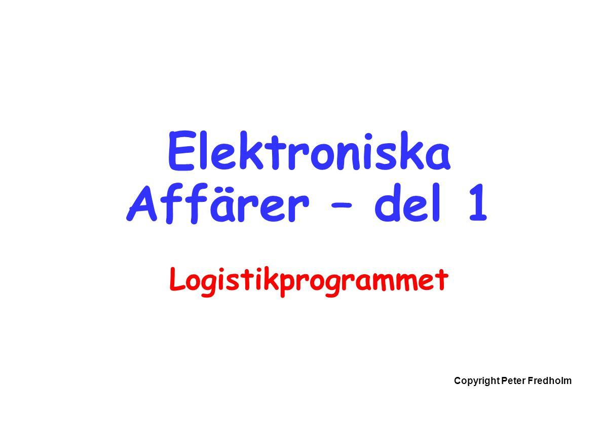 Elektroniska Affärer – del 1