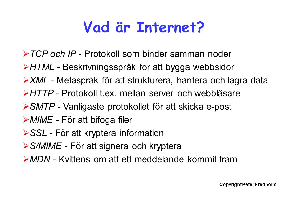 Vad är Internet TCP och IP - Protokoll som binder samman noder