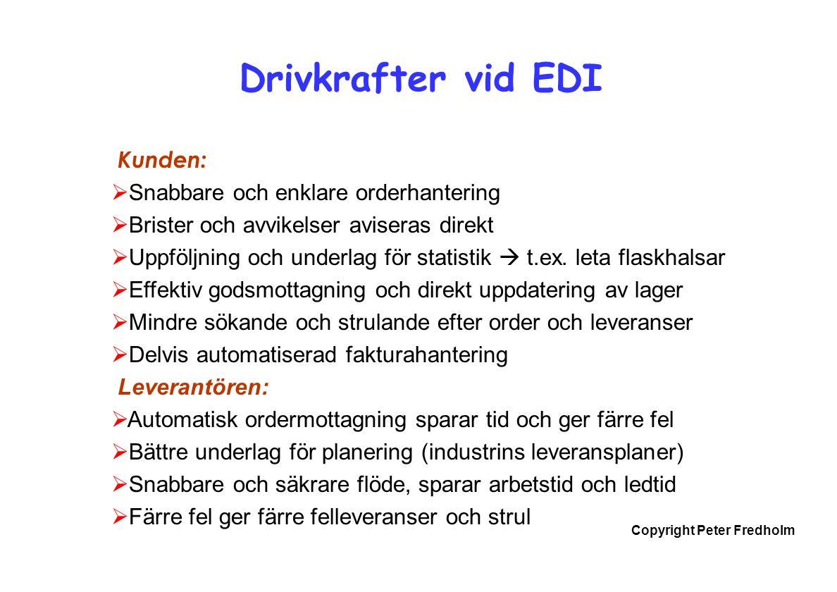 Drivkrafter vid EDI Kunden: Snabbare och enklare orderhantering