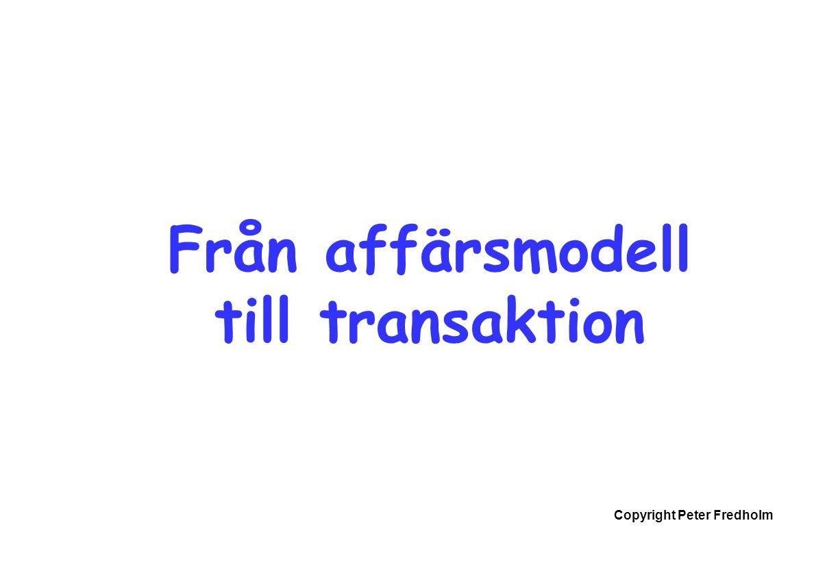 Från affärsmodell till transaktion