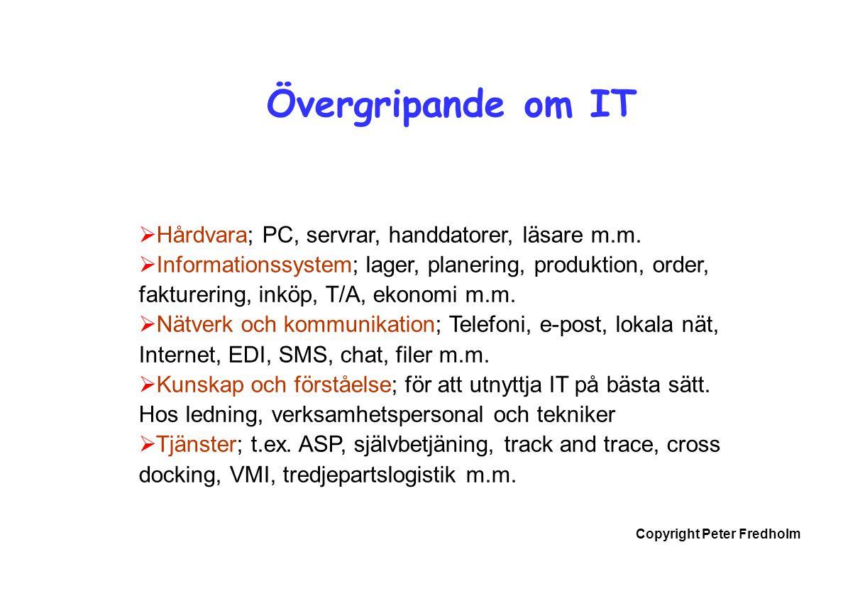 Övergripande om IT Hårdvara; PC, servrar, handdatorer, läsare m.m.