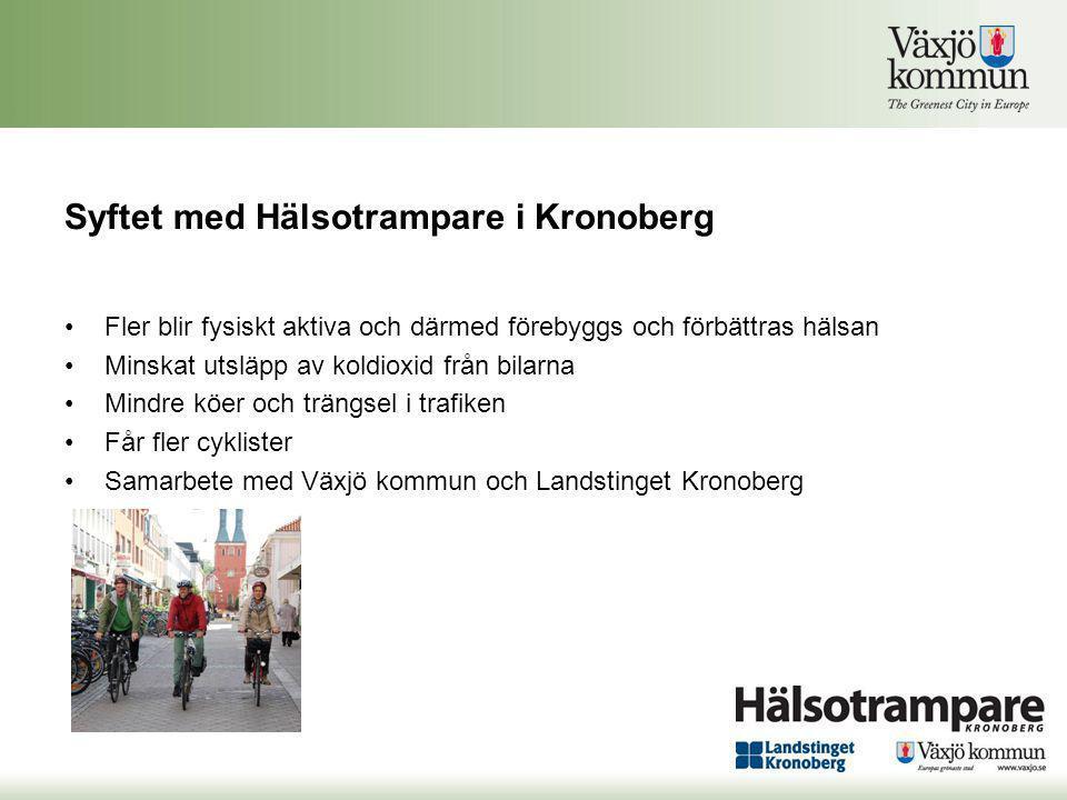 Syftet med Hälsotrampare i Kronoberg
