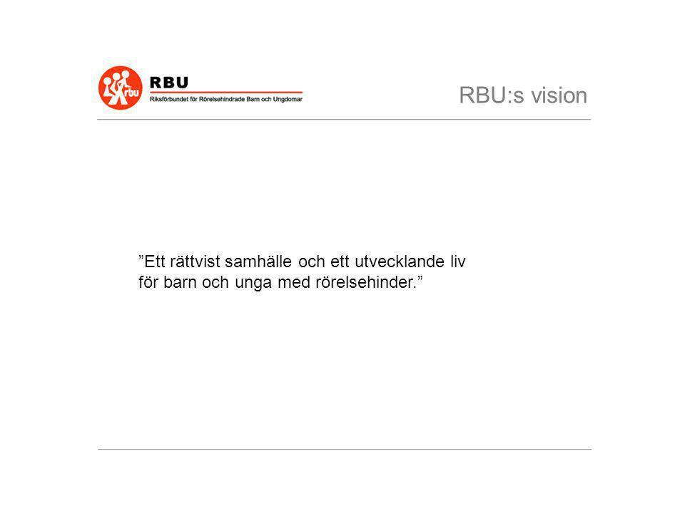 RBU:s vision Ett rättvist samhälle och ett utvecklande liv