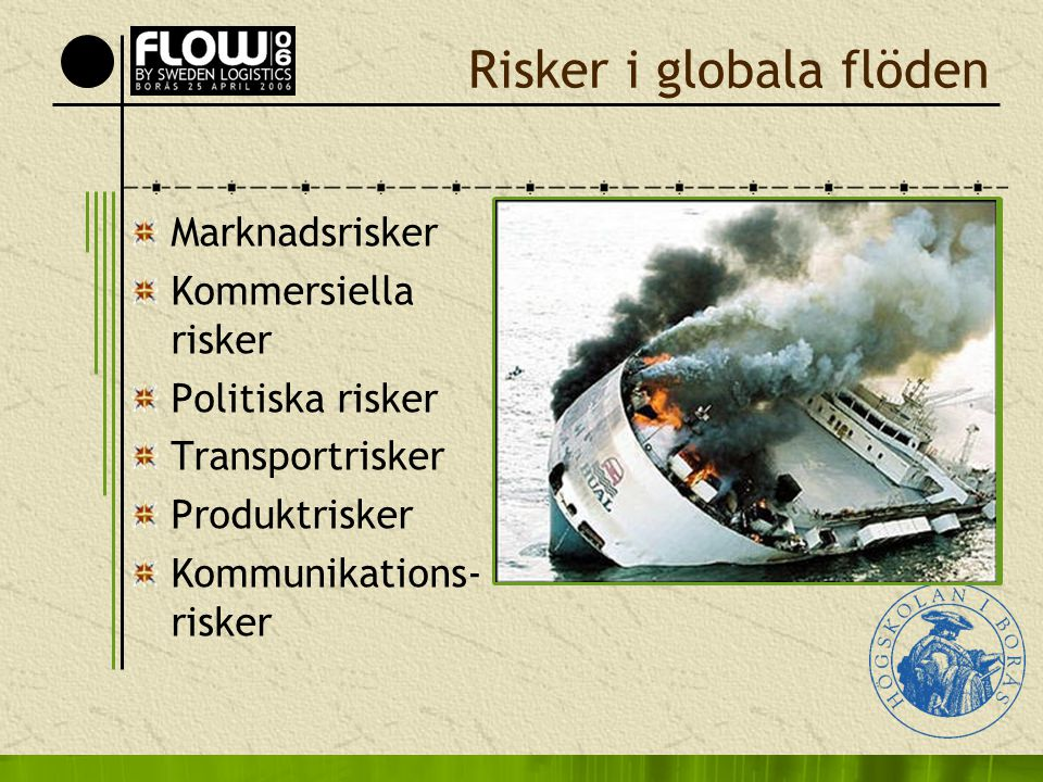 Risker i globala flöden