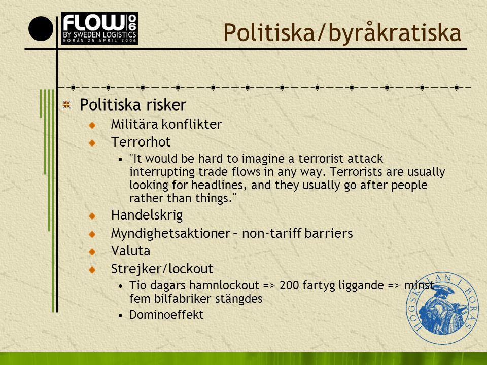 Politiska/byråkratiska