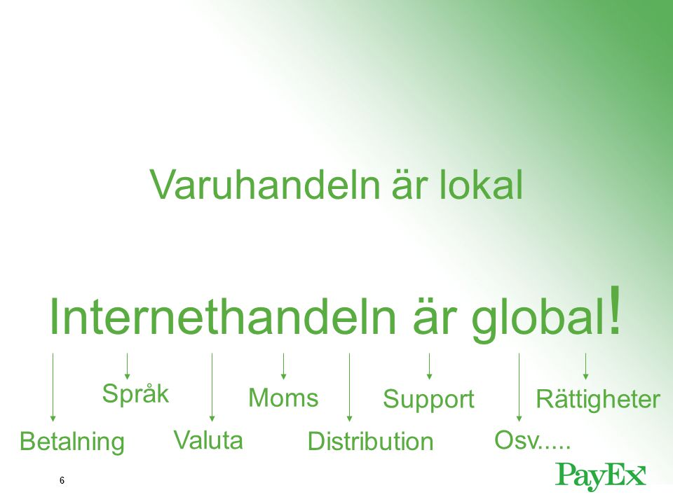 Internethandeln är global!