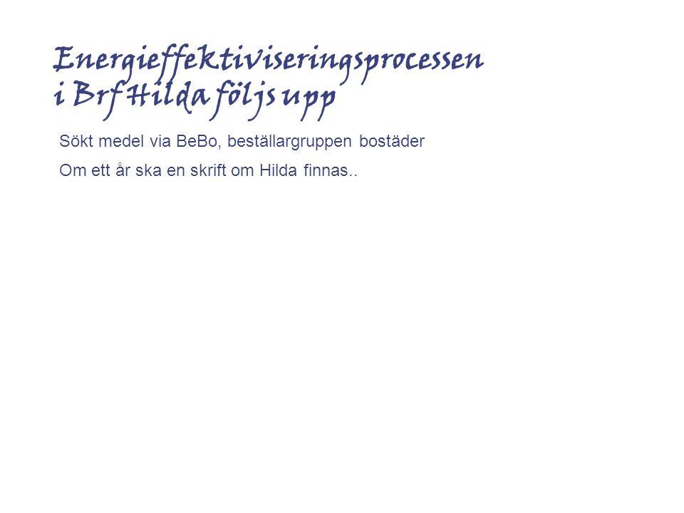 Energieffektiviseringsprocessen i Brf Hilda följs upp