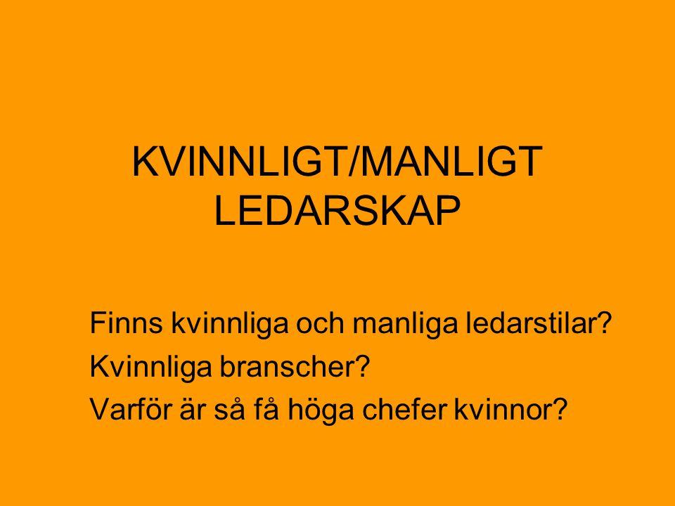 KVINNLIGT/MANLIGT LEDARSKAP