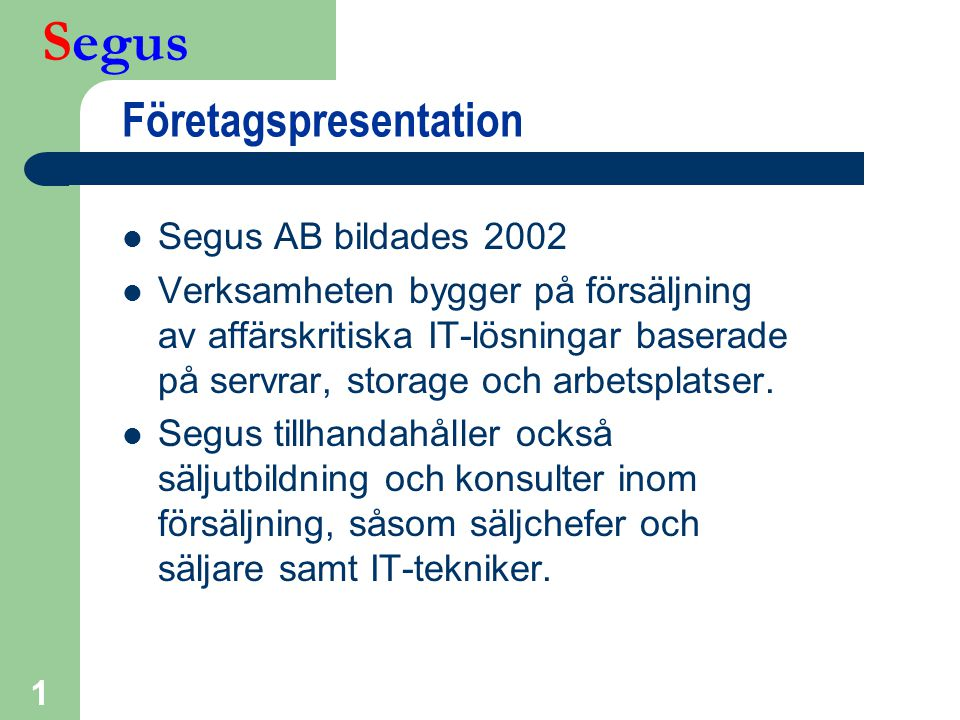 Företagspresentation