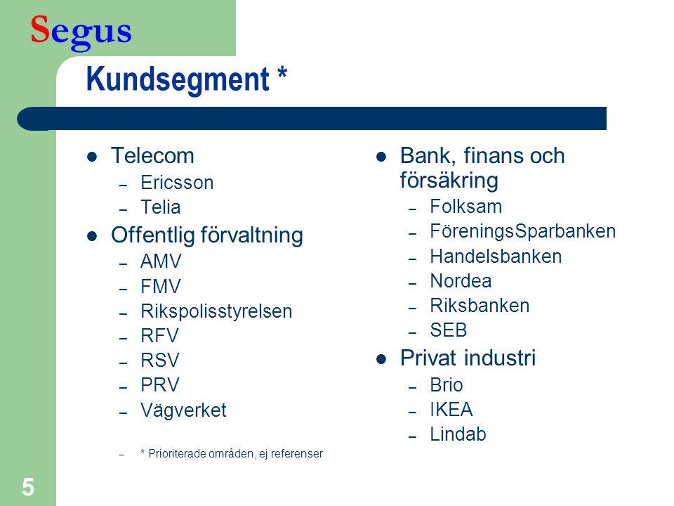 Kundsegment * Telecom Offentlig förvaltning