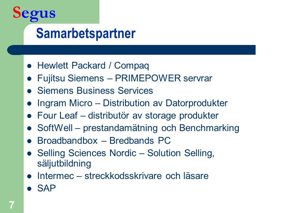 Samarbetspartner Hewlett Packard / Compaq