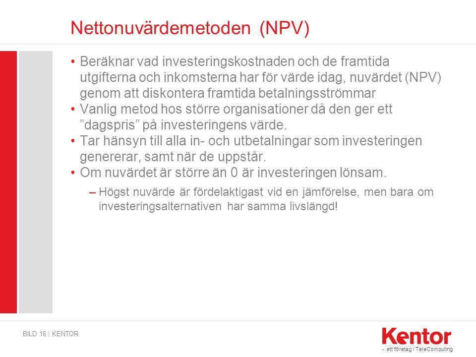 Nettonuvärdemetoden (NPV)