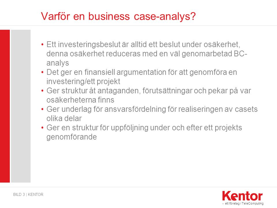 Varför en business case-analys