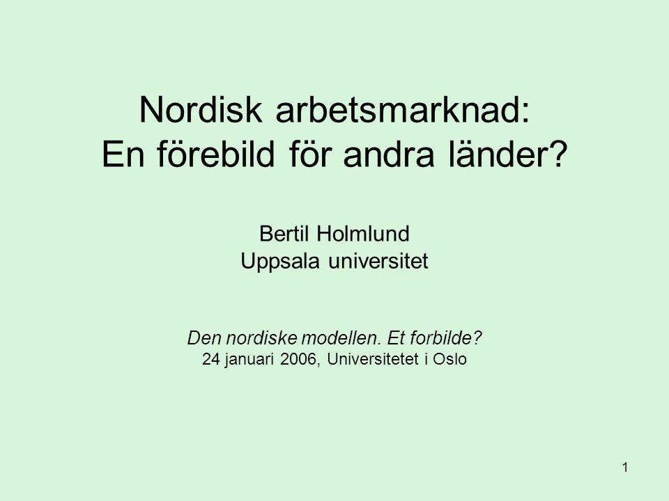 Nordisk arbetsmarknad: En förebild för andra länder