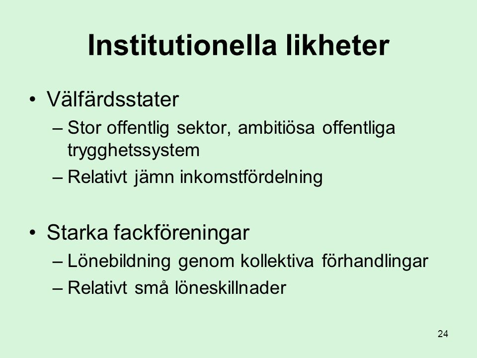 Institutionella likheter